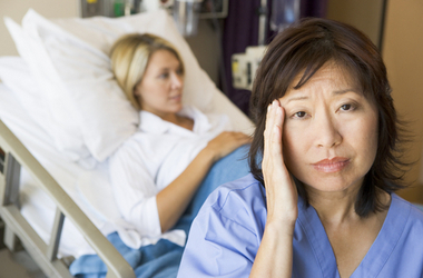 Nurse overwhelmed by stress